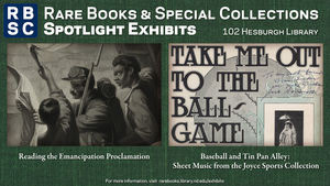 Rbsc Exhibit Emancipation Baseball
