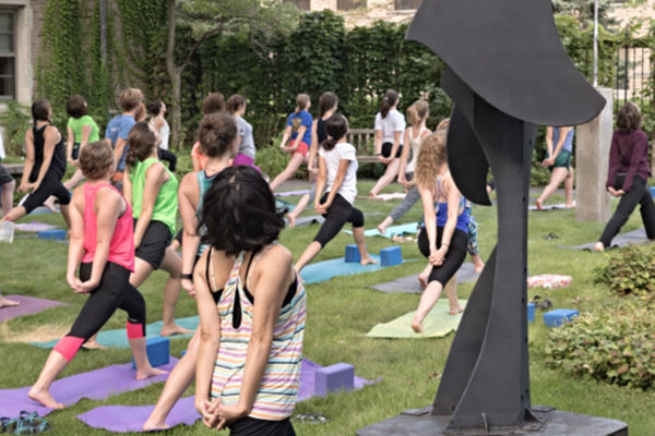 Snite Courtyard Yoga 600x400